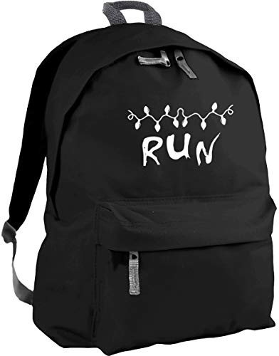 HippoWarehouse Run Christmas Light Message Backpack ruck Sack Dimensions: 31 x 42 x 21 cm Capacity: 18 litres