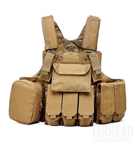 Will Outdoor Chaleco táctico CS Field Airsoft Paintball Vest Fuerzas Especiales multipropósito Chaleco de Combate de protección con Bolsa Molle Equipo táctico