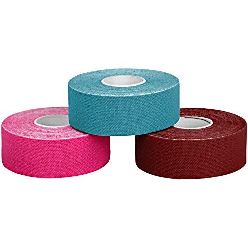 ALPIDEX 3 Rollen Kinesiologie Tape 5 m x 2,5 cm Elastisches Tape Bandage Set Schmal, Farbe:bunt
