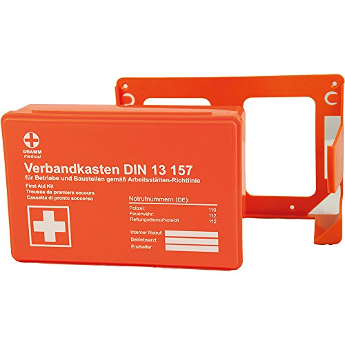 Gramm medical 418.035.01511 MINI Betriebsverbandkasten, orange, 26 x 9 x 18 cm