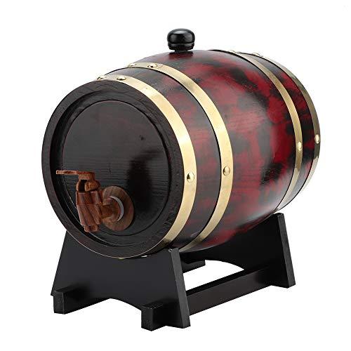 Barril de cerveza de roble 3L, barril de vino vintage, barril de vino de madera de roble para el hogar barril de barril de barril de cubo para el hogar