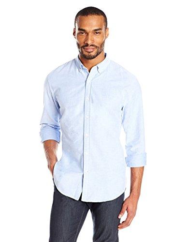 Goodthreads Regular-Fit Long-Sleeve Solid Oxford Shirt Hemd, Blue, Large