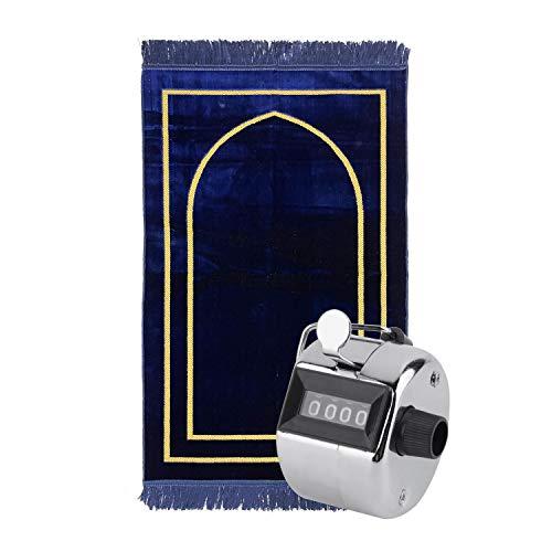 Alfombra musulmana turquesa Alya TRQPM05 [70 x 110] [600 gr] (azul marino)