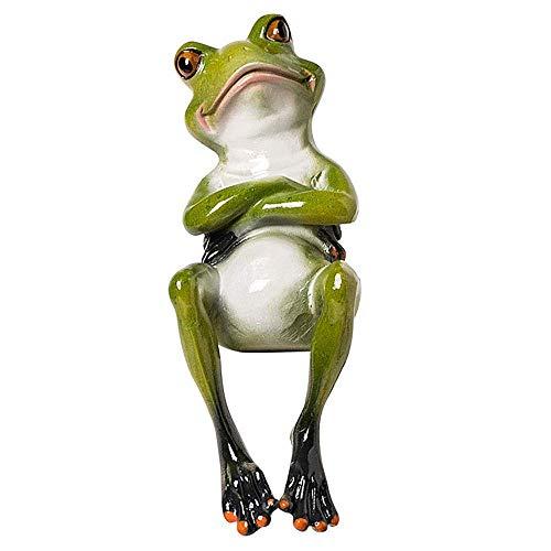 Grenouille Figurine Statues de Jardin, Sculptures de grenouilles Décor extérieur Décor de grenouille drôle pour la décoration d'armoire de Bureau à Domicile (réflexion)