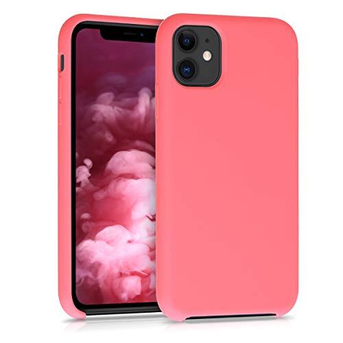 kwmobile Hülle kompatibel mit Apple iPhone 11 - Handyhülle gummiert - Handy Case in Neon Koralle