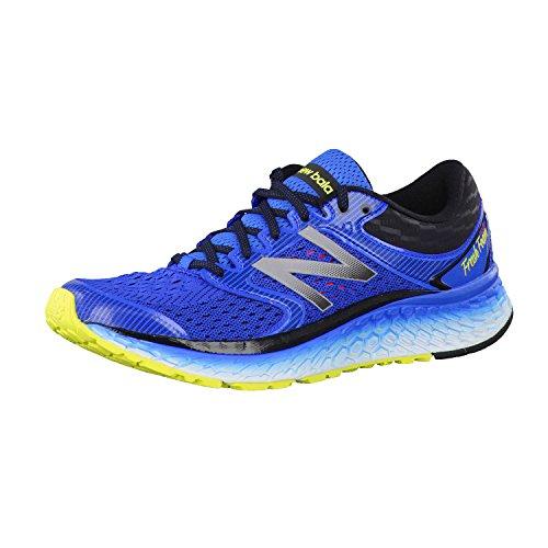 New Balance Men's Fresh Foam 1080 V7 Running Shoe, Electric Blue/Hi Lite, 11 D US
