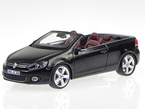 VW Golf 6 Cabrio schwarz deep black GC300 Modellauto Schuco 1:43