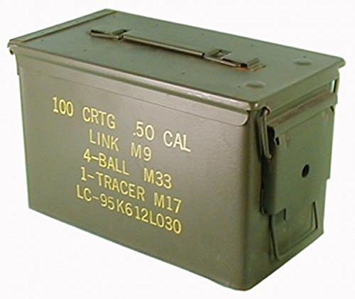Originale gebrauchte Munitionskiste der U.S. Army für 300 Patronen Kaliber 7,62 Metallkiste Mun-Kiste Behälter Metallbox