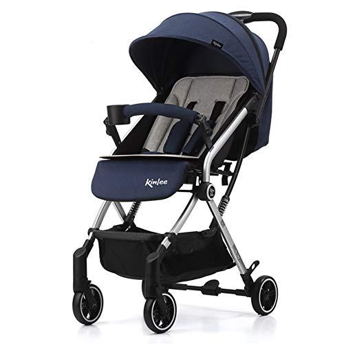 WYX-Stroller Kinderwagen Leichte Tragbare High Landscape Kann Sitzen Und Liegen Faltbare Kinderwagen Kinderwagen Für Neugeborene,b
