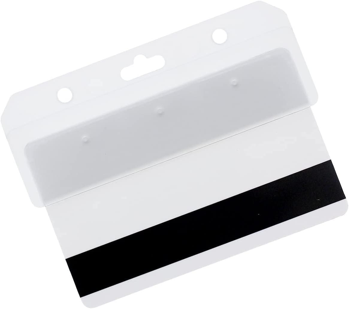Max 66% OFF Bulk 50 New arrival Pack - Rigid Plastic Holde ID Horizontal Half Card Badge