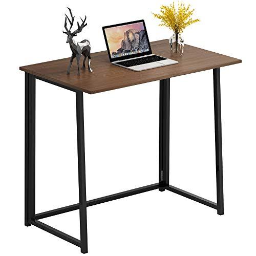 4NM Folding Desk, No-Assembly Small Computer Desk Home...