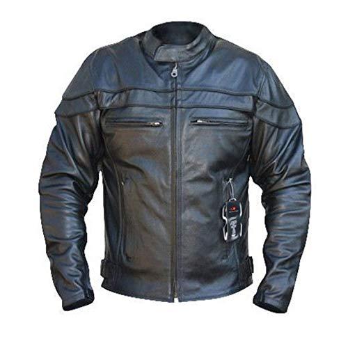 Australian Bikers Gear - Herren Lederjacke - bekümmert Sturgis Sports - Antikleder - CE-Protektoren - S
