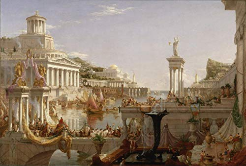 Berkin Arts Thomas Cole Giclee Canvas Print Paintings Poster Reproduction(The Consummation The Course of The Empire) #XFB