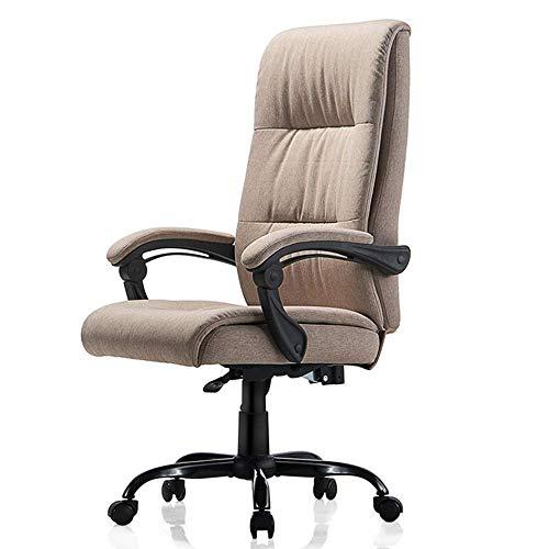 WSDSX Schlafzimmer Home Office Schreibtischstuhl Gepolsterte ineinandergreifende Armlehne Stoff-Loungesessel Doppelter Komfort-Schwammrücken 155 ° bequem liegend Home Computer-Stuhl Tragfähi
