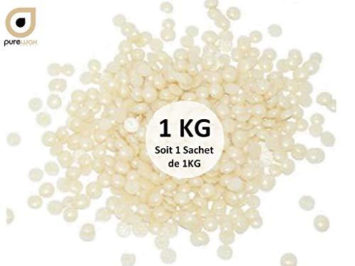 Pastilles de cire à épiler BLANC NACRE cire pelable sans bande- PUREWAX By Purenail, 1000 gr TOP PROMO