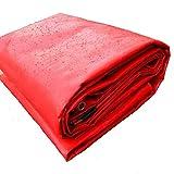 De Espesor 0,3 Mm A Prueba De Lluvia Tela Impermeable Plantas Suculentas Lona De La Cubierta Exterior De Lona del Toldo De La Sombrilla De Tela De Color Rojo Plateado (Color : 3x4m)