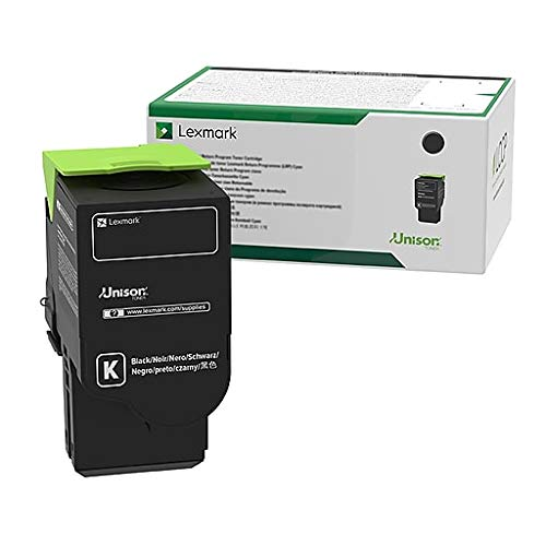 Government Lexmark CS521dn, CS622de, CX421adn, CX522ade, CX622ade, CX625ade, CX625adhe Black Return Program Toner Cartridge (2,000 Yield)