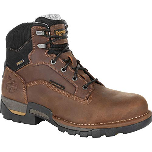 Georgia Boot Eagle One Steel Toe Waterproof Work Boot Size 10(M) Brown