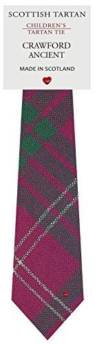 I Luv Ltd Garçon Tout Cravate en Laine Tissé et Fabriqué en Ecosse à Crawford Ancient Tartan