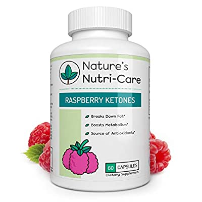 Nature's Nutri-Care Raspberry Ketones Weight Loss - 500 mg - 60 Capsules - Metabolism Booster Supplement - Made in USA