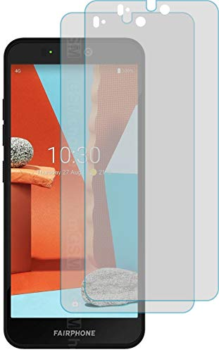 4ProTec I 2X Schutzfolie MATT passexakt für Fairphone 3+ Plus - Displayschutzfolie Schutzhülle