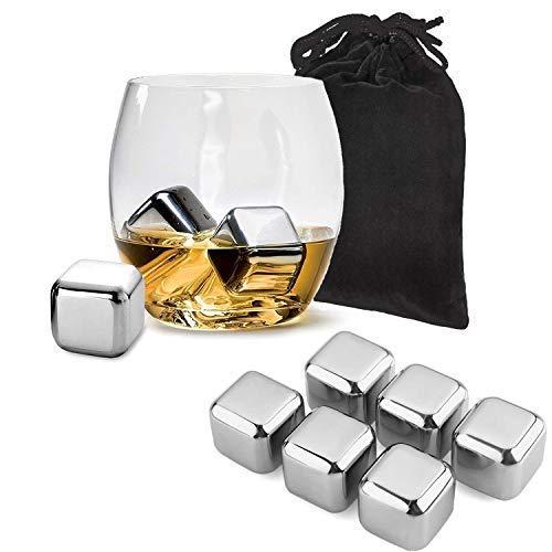 Tivoli Piedras para Whisky Acero Inoxidable – Conjunto de Cubo de Hielo...
