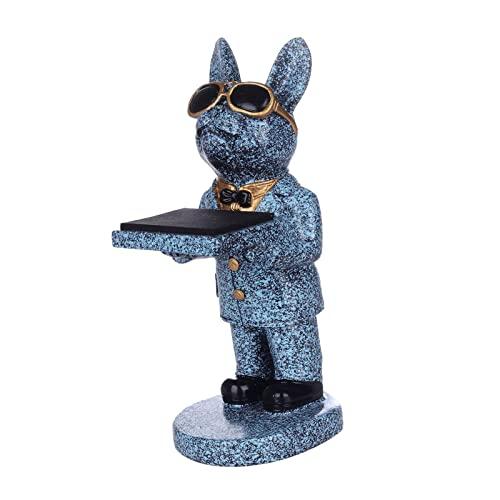 sharprepublic 1pc Kreative Bulldogge Uhr Stand Display Aufbewahrung Mode Halskette Ohrringe Schmuck Halterung Geschenk Organizer NEU