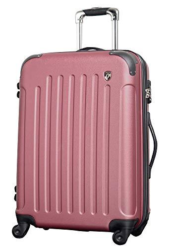 M 【マットB】 ローズ / newFK10371 スーツケース キャリーバッグ 軽量 TSAロック (4〜7日用) マット加工 ファスナー開閉タイプ
