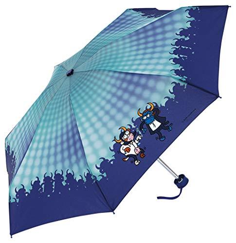 Paraguas manual Kukuxumusu de vaca y toro que bailan
