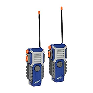 Nerf Walkie Talkie Fun at the Touch of a Button, Set of 2, 1000 feet Range by Sakar