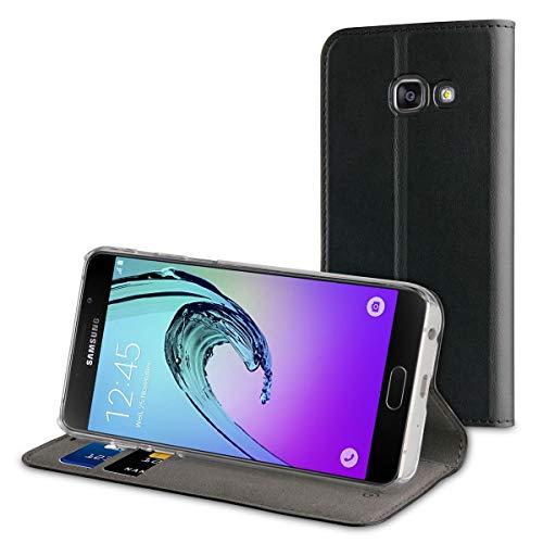 Muvit MUFLS0080 - Funda Folio con función Soporte y Tarjetero para Samsung Galaxy A5 2017, Color Negro