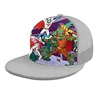 科-学忍-者隊ガッチャマン 白鳥のジュン キャップ 帽子 ベースボールキャップ メンズ レディース フラットバイザー スナップバック Gray