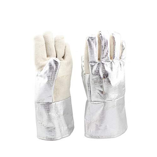 Welding Gloves Welding Gloves, Aluminum Foil High Temperature Radiation Resistant Gauntlets