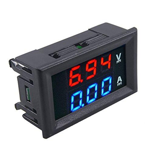 Superb 100V 10A Dc Dual Led Red and Blue Digital Voltmeter Ammeter Monitor Panel