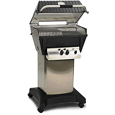 Broilmaster P4-XF Premium Propane Gas Grill On Stainless Steel Cart