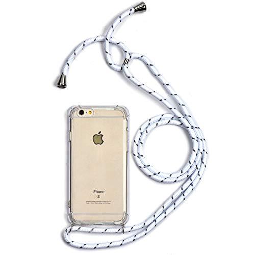 Trop Saint - Carcasa con cordón para iPhone 6 y 6S (Silicona), Color Blanco