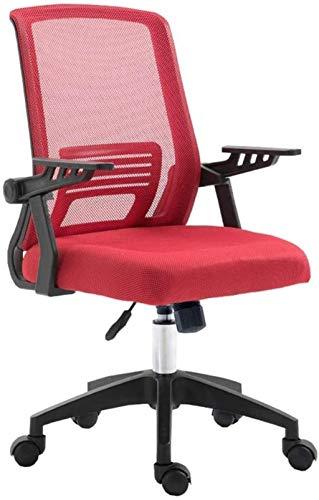 Sillas de Oficina Silla de Ordenador decorativosMesh Silla de Oficina Ajuste de la Parte Posterior de la Espalda apoyabrazos (Color : Red)