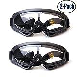 Yithings Gafas de esquí 2 Piezas Gafas al Aire Libre de Nieve Gafas de Protección UV 400 a Prueba de Viento para El Ciclismo de Esquí Motociclismo para Hombres, Mujeres, niños (Transparent)