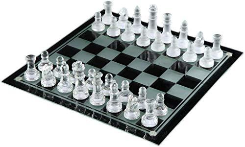 WYBD.Y Tragbares Schachspiel, Brettspiel, Puzzle-Brett, Kristallschach, handgefertigt, klassisches Familienspiel, sehr geeignet für Kinder Erwachsene
