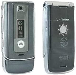 Crystal Clear Motorola W385 Snap Hard Cover case skin smart phone Cell plastic