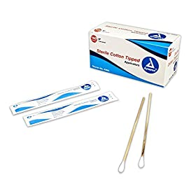"Cotton Tip Applicator 6"" 2's Sterile 100/box 4 Sterile applicators are packaged in convenient peel-down pouches Bag is autoclavable with a colored auto claving process marker, turning reddish pink to brown 100 applicators per box"