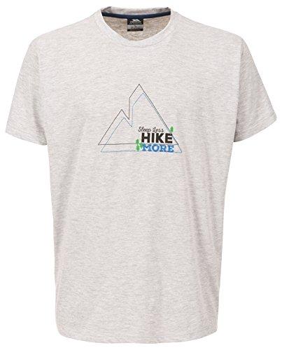 Trespass Luzon T-Shirt Homme, Grey Chiné, FR (Taille Fabricant : XXS)
