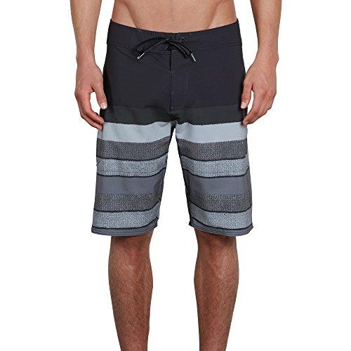 Volcom Men's Lido Liney 21' Mod Boardshort Board Shorts, Black, 38A