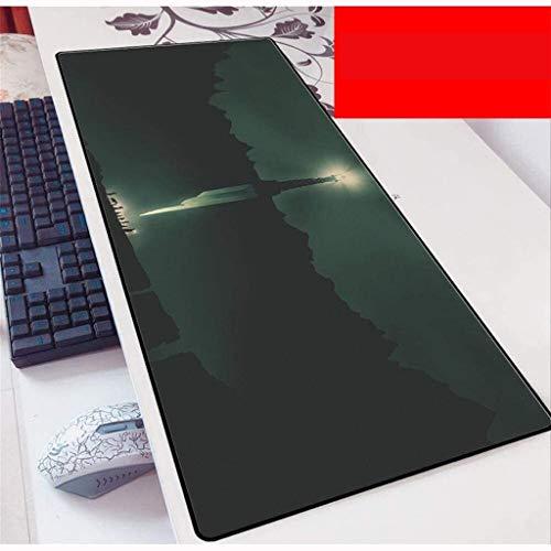 LCFF Tapis de Souris Speed Gaming Mouse Pad Rouge Le Seigneur des Anneaux Grand Clavier Tapis de Souris Tapis de Souris for Ordinateur Portable Home Office (Color : A, Size : 800X300X3Mm)