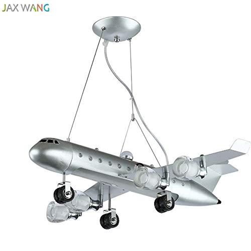 5151BuyWorld Lamp Creative Plan Suspendue LED Lampe Suspendue Top Qualité De La Lumière Pour La Salle De Création D'Avion Enfants Chambre Enfants Accueil Équipement D'Éclairage {Silver}