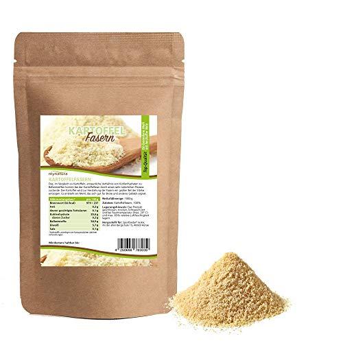 Mynatura Kartoffel Fasern I Kartoffelfasern I Ballaststoffreich I Kochen I Suppe I Kartoffelbrot I Kartoffelmehl I Beutel (1 x 1000g)