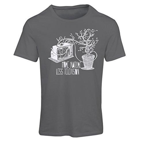 lepni.me N4325F Camiseta Mujer Mas Naturaleza (Large Grafito Multicolor)
