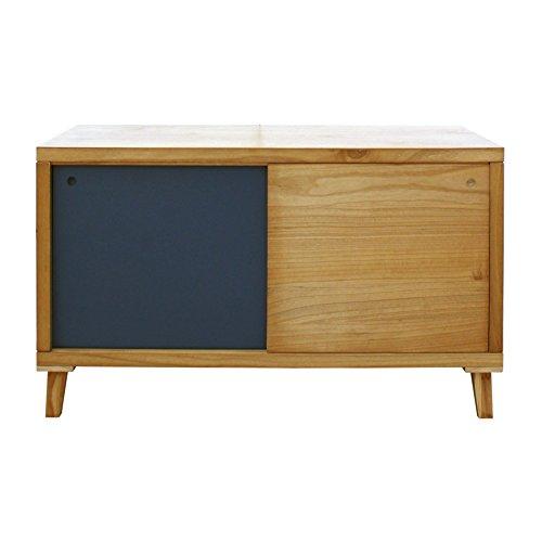 Rebecca meubelstuk voor tv-kast, laag, 2 deuren, hout, bruin, grijs