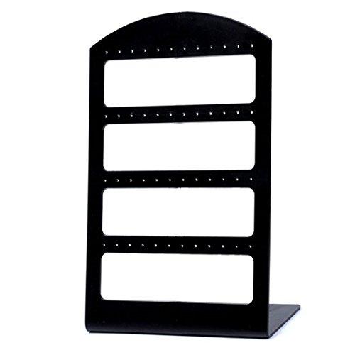 NiceButy portátiles 48 Agujeros Pendiente de pie duraderos Pendientes exhibición de la joyería Organizador plástico Colgador Shows Creative Design