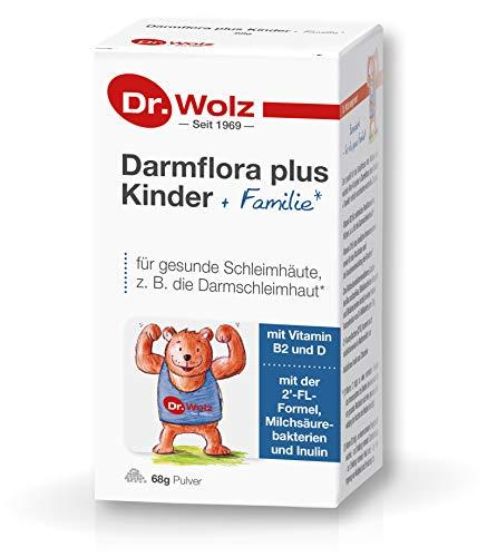 Darmflora plus Kinder + Familie von Dr. Wolz, mit Milchsäurebakterien und 2'Fucosyllactose, 68 g